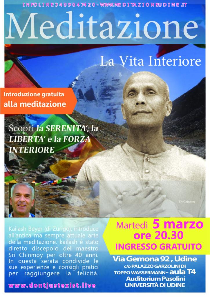 Corso di meditazione gratuito il 5 marzo 2019, Via Gemona 92