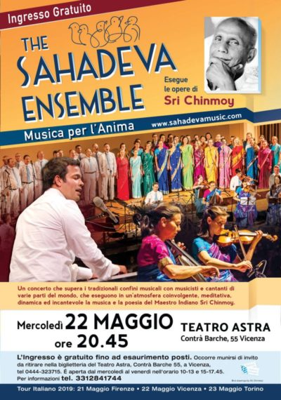 Sahadeva Ensemble: musica per l'anima. Esegue musiche di Sri Chinmoy